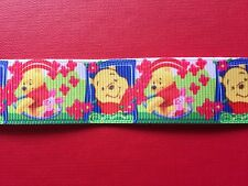 POOH BEAR Bright Grosgrain Ribbon 1 Metre X 22mm For Craft Hair Gifts Cakes