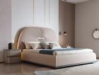 Stoff  Design Bett Doppel Betten Luxus Ehe Modernes Hotel Gestell Schlaf Zimmer günstig
