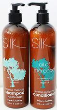 Silk Oil of Morocco Intense Moisture Shampoo & Conditioner 375mL with Pumps