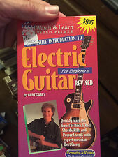 VHS: WATCH & LEARN 60-MINUTE INTRODUCTION TO ELECTRIC GUITAR....BERT CASEY...