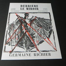Derriere le Miroir #15 1948 Art Magazine GERMAINE RICHIER Maeght Lithographs