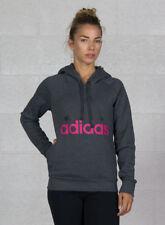 (tg. 44 (taglia produttore M)) adidas Ess Lin Oh FL Felpa Donna Grigio (dark G