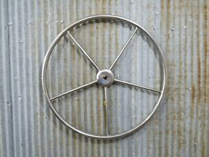 Authentic 24 inch Stainless Steel Boat Wheel -(R11-703A)