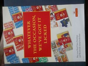 ROYAL MAIL A4 POST OFFICE POSTER 1996 WHATEVER THE OCCASION STAMP BOOKLETS