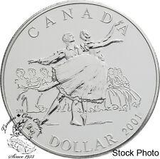 Canada 2001 $1 50th Anniv National Ballet of Canada BU Silver Dollar Coin in BOX
