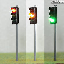 4 x traffic signal light O scale model railroad crossing walk led lamp #GR3