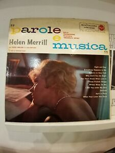 Helen Merrill con Piero Umiliani - Parole e Musica - VG+ 1960 Rare - lpm 10105