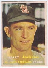 1957 Topps #196 Larry Jackson, pitcher, St. Louis Cardinals, Vg+-Ex