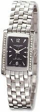 Ladies Charles Hubert Solid Stainless Steel Black Dial 20x25mm Watch