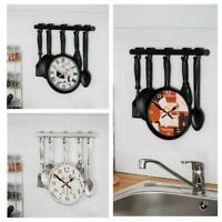 NEW LARGE MODERN HANGING WALL CLOCK VINTAGE CLASSIC KITCEHN QUARTZ HOME UTENSIL