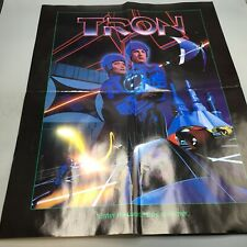 """Tron Promotional Movie Poster 1982 - Folded Poster - 17"""" X 22"""" Rare Official -"""