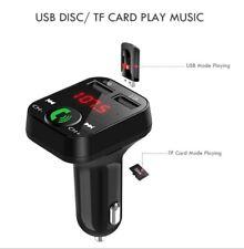 Auto Voiture Noir Bluetooth Transmetteur Fm sans Fil Adaptateur Chargeur USB MP3