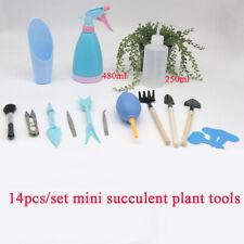 14pcs/Set Mini Sukkulente Umpflanzen Garten Handwerkzeug Set Pflanze Pflege Neu