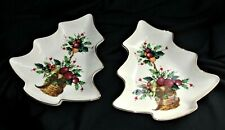 """Lenox Two Holiday Tartan Christmas Tree 7.5"""" Candy Dish Dimension Collection"""