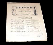 fabliau du Médecin Malgré Lui piano chant 1860 Gounod