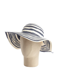 $48 NWT Women's Calvin Klein Space Dye Sun Hat Black/Grey Floppy Beach Hat OS