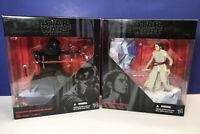 Lot: Star Wars The Black Series REY & KYLO REN StarKiller Base 6'' Force Awakens