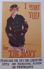 "Howard Chandler Christy I WANT YOU FOR THE NAVY (35""x23"") - Vintage Reproduction"