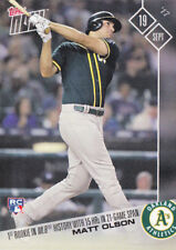 Matt Olson A's 2017 Topps NOW 624 1st Rookie in MLB with 15 HR in 21 Games RC