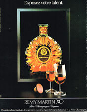 PUBLICITE ADVERTISING 084  1984  REMY MARTIN  fine champagne cognac XO