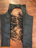 USA Bikers Dream Apparel Small ....Fringe Leather chaps