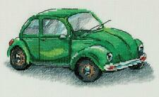 Counted Cross Stitch Embroidery Kit by Panna M-7092 Green Car