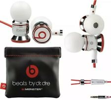 Genuine Monster Beats, Beats by Dr. Dre iBeats Headphones -White-Pouch Version