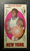 VINTAGE 1969 Topps Basketball - Willis Reed #60 Rookie Card  & HOF