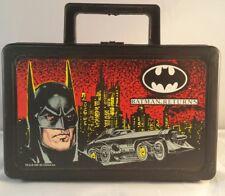 Batman Returns 1991 Vtg Carry-all Pencil Toy Case Handle Box Creative Plastics