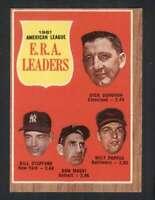 1962 Topps #55 Donovan/Stafford/Mossi/Pappas EX/EX+ A.L. E.R.A. Leaders 74960