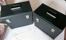 VINTAGE RECORD CASES FAB 60--70'S  BLACK LP'S VERY GOOD CONDITION