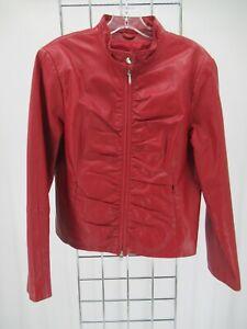 K6488 VTG Wilsons Women's Full-Zip  Classic Leather Jacket  Size L