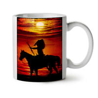 Horse Sea Sunset NEW White Tea Coffee Mug 11 oz | Wellcoda