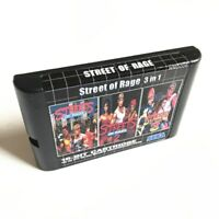 Streets of Rage 3 in 1 Trilogy - Sega Genesis Collection Mega Drive Multi Cart 2