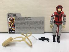 Nice! GI Joe Vintage ARAH 1987 GI Joe Crazylegs Gun File Card 100% complete.