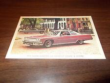 1975 Buick Electra 225 Hardtop Coupe & Sedan Advertising Postcard