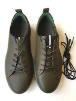 Ecco Soft 8 Green Leather Lace Up Sneaker Men's Size 44, US 10/10.5