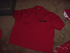 VINTAGE NWT MENS UNIFORM 7 ELEVEN SMALL UNISEX RED ZIPPER SHORT SLEEVE SHIRT 80s
