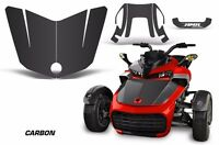Hood Graphics Kit Decal Sticker Wrap For Can-Am F3-S Spyder Roadster CARBON FBR