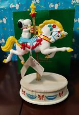 Very Large Snoopy Musical Carousel Horse By Willitts Mib Horse Moves Up and Down