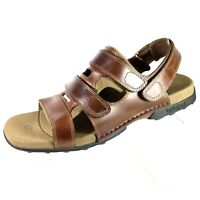 Timberland Smart Comfort Men's Gladiator Sandals Brown Leather Size 14 NEW