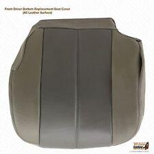 2001 2002 GMC Yukon XL 1500 Denali Driver Bottom Leather Seat Cover 2-Tone Gray