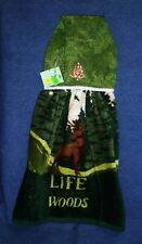 **NEW** Handmade Life is Good in the Woods Deer Hanging Kitchen Hand Towel #1896