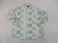 Brooks Brothers Button Up Shirt Adult Extra Large Brown Green Long Sleeve Mens