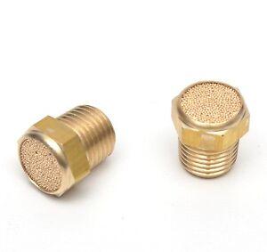 1/8 NPT Male Breather Vent Flat Bronze Silencer 2pcs Mufflers Solenoid Crankcase