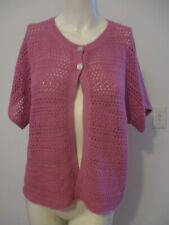JH COLLECTIBLES LAVENDER 2 BUTTONS SHORT SLEEVES SWEATER SIZE XL