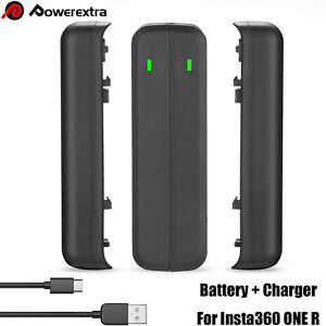 Powerextra 2X 1500mAh Battery Pack and Dual Charger For Insta360 ONE R Camera