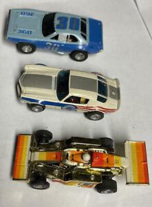 Lot Of 3 Vintage Aurora AFX  Including Formula 1 G+ HO Slot Car USA ....NICE!!