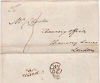 # c.1760s 2 LINE FARRINGDON & BISHOPMARK WRAPPER >CHESTER CHANCERY OFFICE LONDON