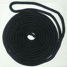 "DOUBLE BRAID NYLON DOCK LINE - 3/4"" x 30' BLACK"